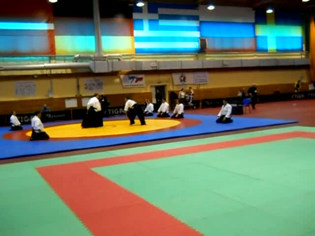 Presentation of aikido on the II World Games of Martial Arts